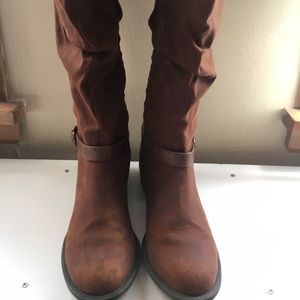 Tall darker tan boots